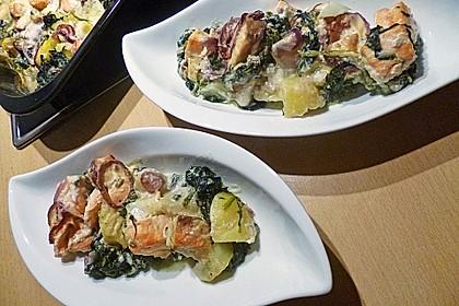 Spinat - Kartoffel - Lachs - Auflauf 9