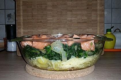 Spinat - Kartoffel - Lachs - Auflauf 4