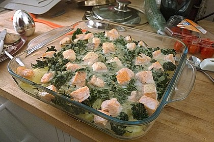 Spinat - Kartoffel - Lachs - Auflauf 8