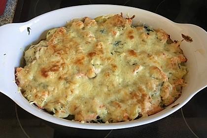 Spinat - Kartoffel - Lachs - Auflauf 10