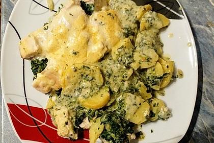 Spinat - Kartoffel - Lachs - Auflauf 12