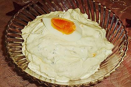 Fondue - Soße mit Ei 3