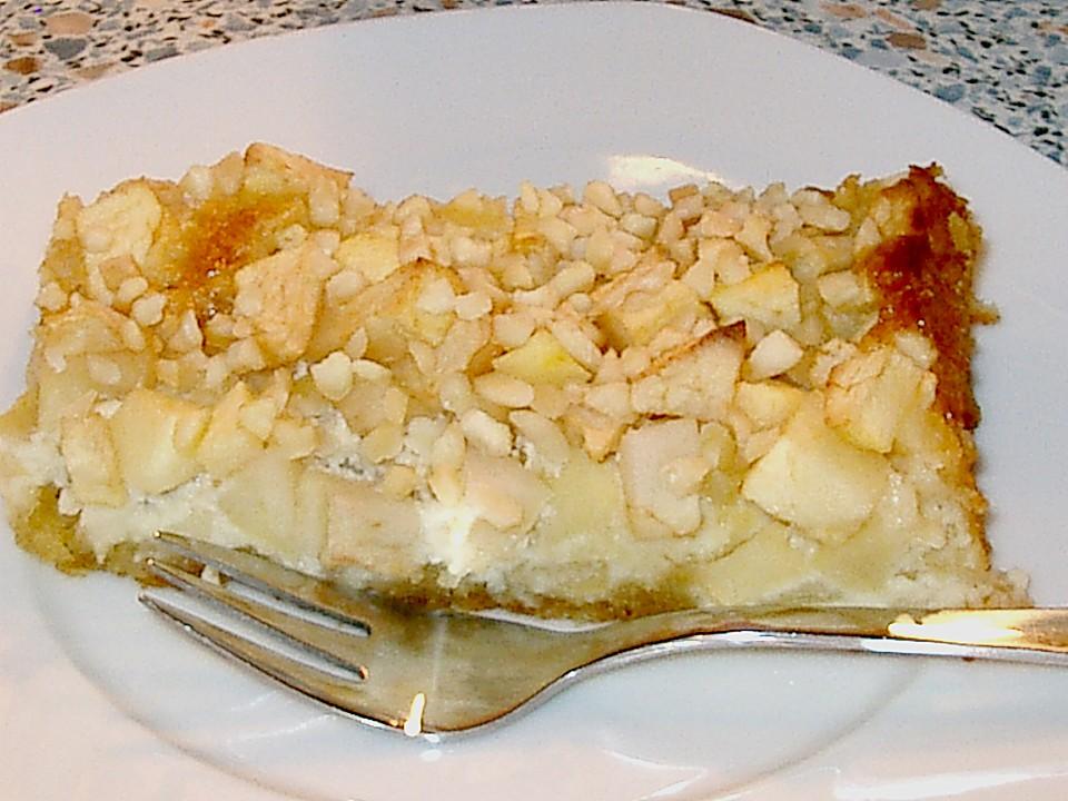 Apfel marzipan kuchen blech