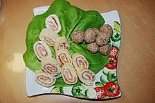 Pfannkuchen - Lachs - Rolle