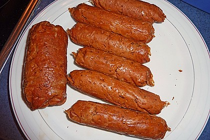 Seitan - Wurst, vegane Bratwurst 5