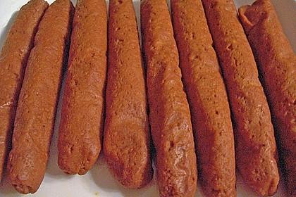 Seitan - Wurst, vegane Bratwurst 8