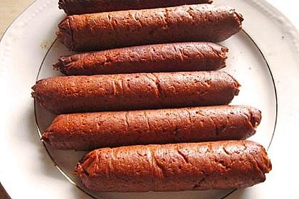 Seitan - Wurst, vegane Bratwurst 10