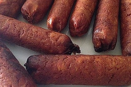 Seitan - Wurst, vegane Bratwurst 16