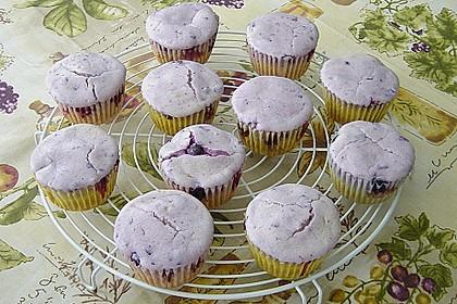 Muffins mit Heidelbeeren und Quark 6