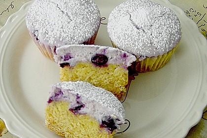 Muffins mit Heidelbeeren und Quark 2