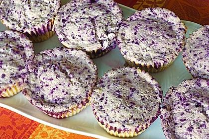 Muffins mit Heidelbeeren und Quark