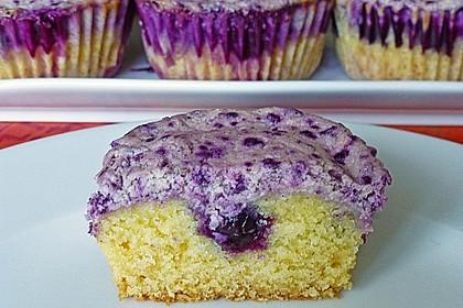 Muffins mit Heidelbeeren und Quark 1
