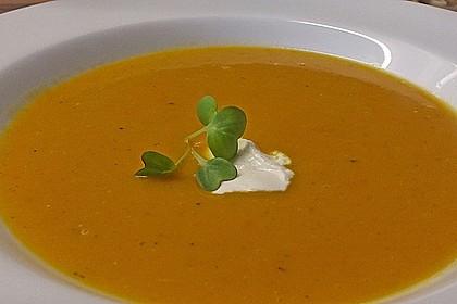 Süßkartoffel - Karotten - Suppe 7