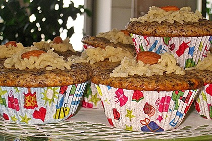 Mohn - Marzipan - Muffins 3