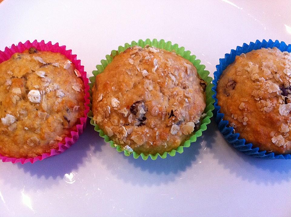 Oatmeal Banana Raisin - Muffins (Rezept mit Bild) | Chefkoch.de