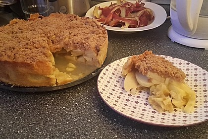 Veganer Apfelkuchen  mit Zimtstreuseln 4