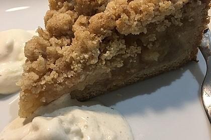 Veganer Apfelkuchen  mit Zimtstreuseln 54