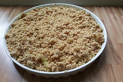 Veganer Apfelkuchen  mit Zimtstreuseln 49