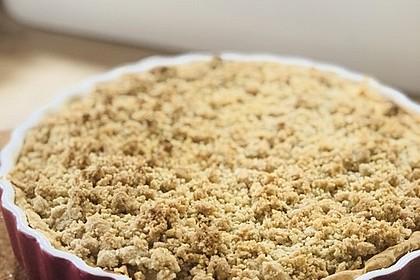 Veganer Apfelkuchen  mit Zimtstreuseln 48