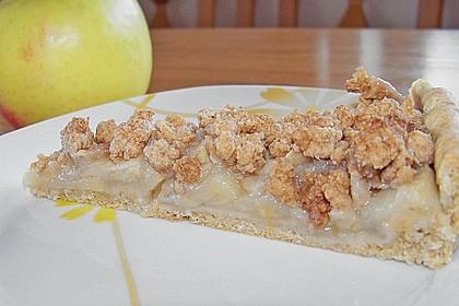 Veganer Apfelkuchen  mit Zimtstreuseln 9