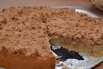 Veganer Apfelkuchen  mit Zimtstreuseln 8