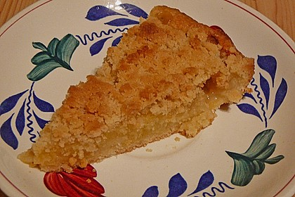 Veganer Apfelkuchen  mit Zimtstreuseln 45