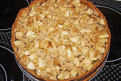 Veganer Apfelkuchen  mit Zimtstreuseln 44