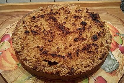 Veganer Apfelkuchen  mit Zimtstreuseln 63