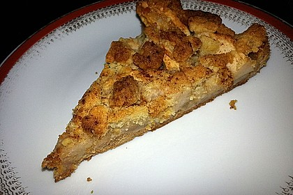Veganer Apfelkuchen  mit Zimtstreuseln 59