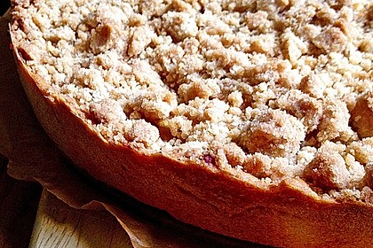 Veganer Apfelkuchen  mit Zimtstreuseln 21