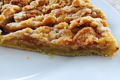 Veganer Apfelkuchen  mit Zimtstreuseln 6