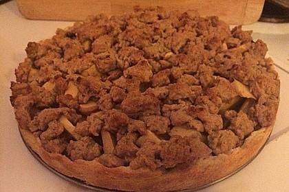 Veganer Apfelkuchen  mit Zimtstreuseln 75