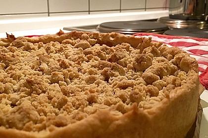 Veganer Apfelkuchen  mit Zimtstreuseln 16