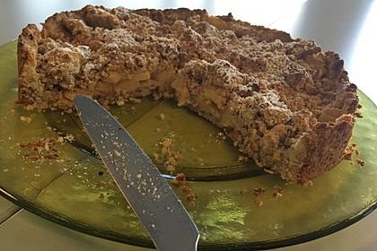 Veganer Apfelkuchen  mit Zimtstreuseln 24