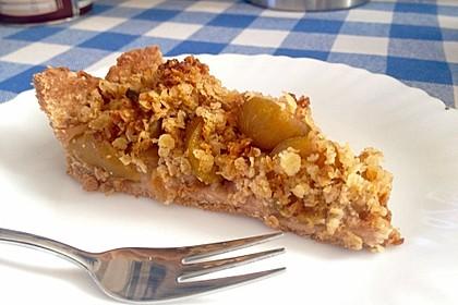 Veganer Apfelkuchen  mit Zimtstreuseln 11