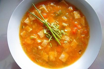 Kürbissuppe mit Ingwer und Kokosmilch