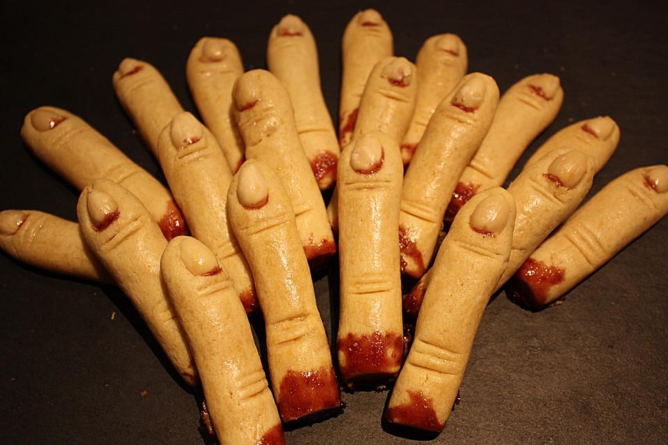 Halloween rezepte finger kekse