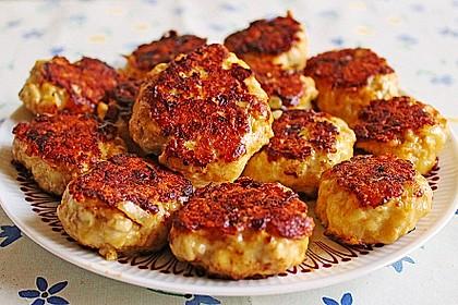 Käsefrikadellen mit Putenhackfleisch