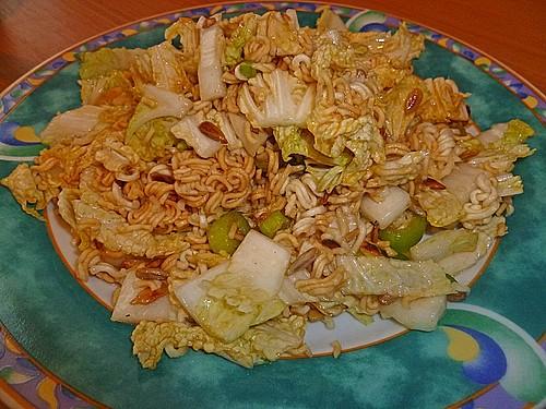 chinakohl nudel salat rezept mit bild von simcat04. Black Bedroom Furniture Sets. Home Design Ideas