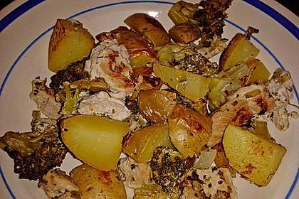 Ofenkartoffeln mit Brokkoli