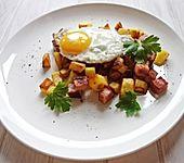 Leberkäse - Kartoffeln mit Ei (Bild)