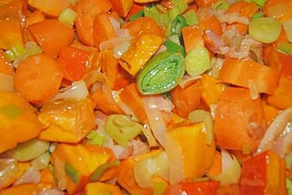 Kürbissuppe mit Äpfeln, Birnen + Lachs 18