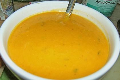 Kürbissuppe mit Äpfeln, Birnen + Lachs 14