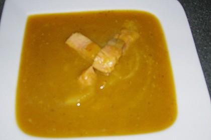Kürbissuppe mit Äpfeln, Birnen + Lachs 23