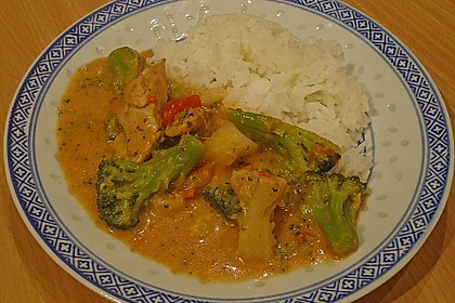 Puten - Curry - Gulasch 1