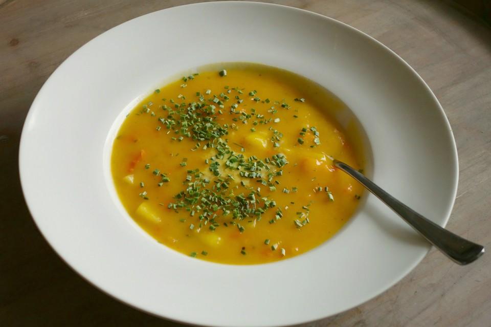 kartoffel-kürbis-suppe (rezept mit bild) von maija2 | chefkoch.de - Kürbissuppe Rezept Chefkoch