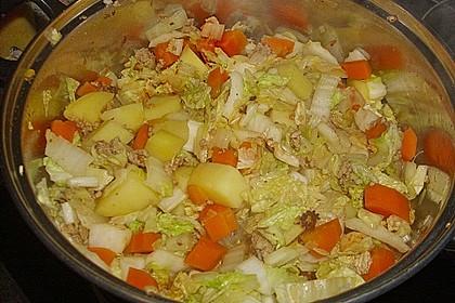 Chinakohl - Eintopf mit Hackfleisch im Schnellkochtopf 2
