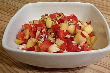 Apfel - Paprika - Salat 6
