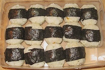 Onigiri mit Lachs und Hähnchen 19