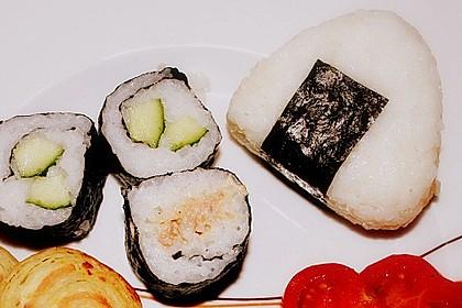 Onigiri mit Lachs und Hähnchen 9